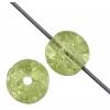 Glass Bead Cracked 6mm Light Olivine - Strung
